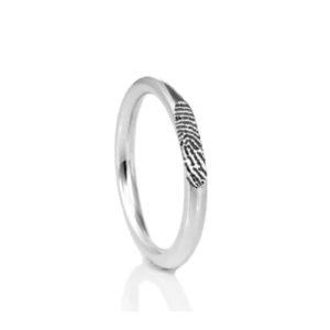 0140-00 Vingerafdruk ring