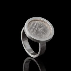 0142-00 Vingerafdruk ring rond