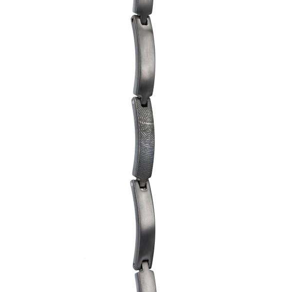0304-00 Zilveren vingerafdruk schakel armband