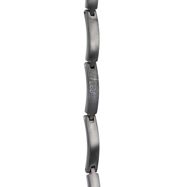0304-03 Zilveren vingerafdruk schakel armband