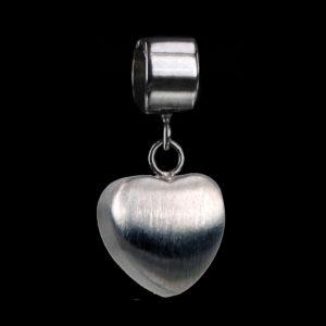 1009-00 Bead met hart voor armband
