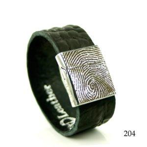 0301-204 Leren armband met vingerafdruk