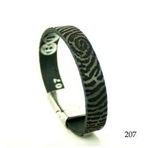 0301-207 Leren armband met vingerafdruk