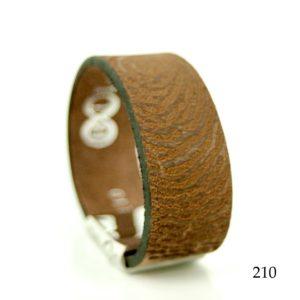 0301-210 Leren armband met vingerafdruk