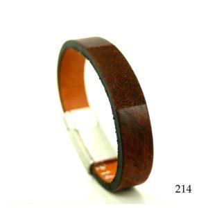 0301-214 Leren armband met vingerafdruk
