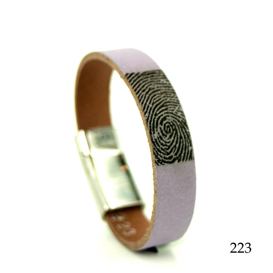 0301-223 Leren armband met vingerafdruk