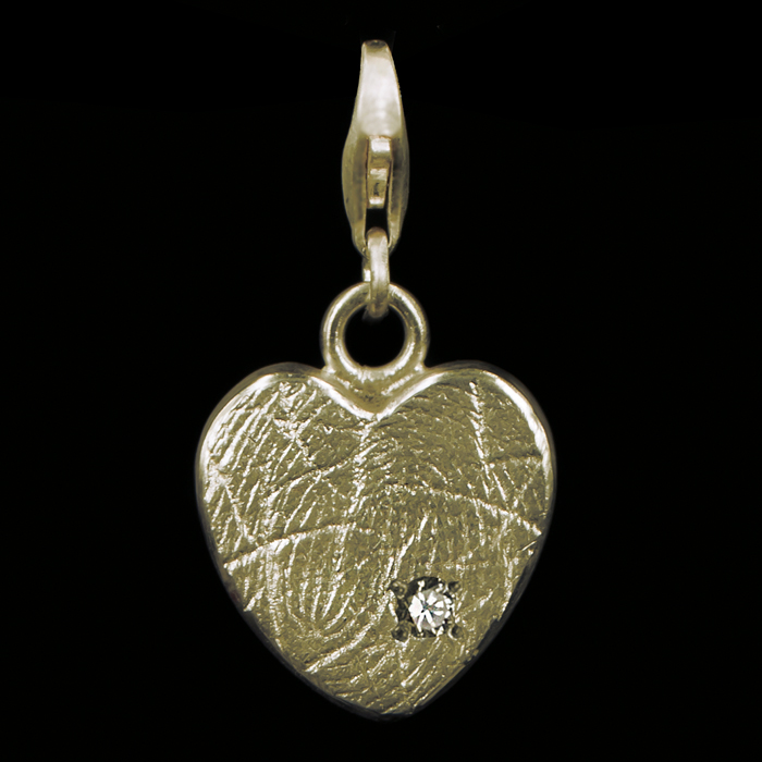 0503-01 Hartvormige bead met steen