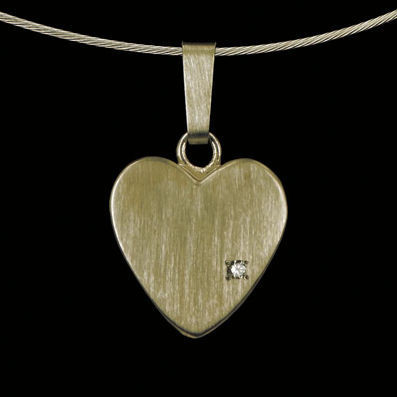 0801-01 Hartvormige hanger met steen
