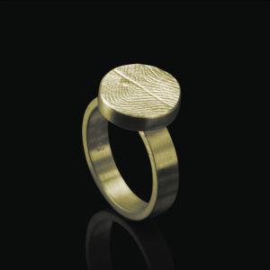 0109-00 Vingerafdruk ring rond
