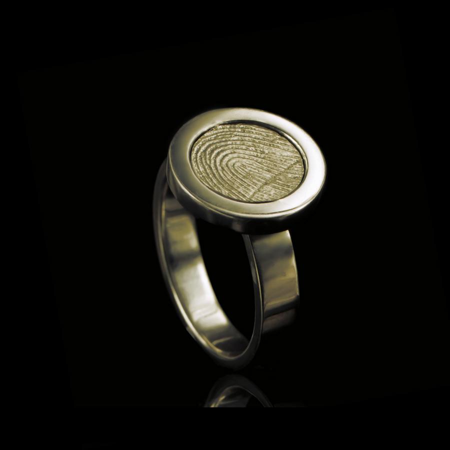 0113-00 Vingerafdruk ring rond