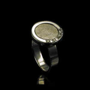 0113-05 Vingerafdruk ring met ronde afdruk