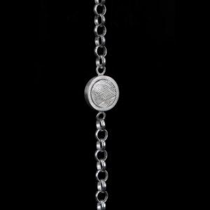 0302-00 Zilveren vingerafdruk armband
