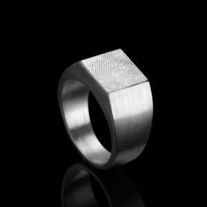 0104-00 Vierkante vingerafdruk zegelring