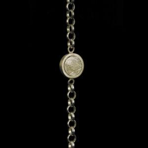 0302-00 Gouden armband met ronde vingerafdruk