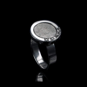 0113-05 Vingerafdruk ring met 5 stenen